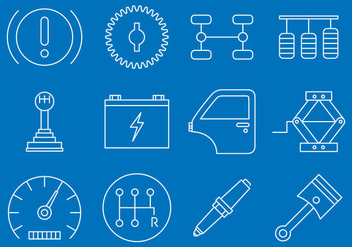 Vehicle Maintenance Icons - vector #374585 gratis