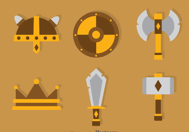 Barbarian Element Icons Vector - vector gratuit #374605
