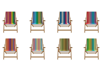 Free Color Gradient Canvas Deck Chair Vector - Kostenloses vector #374625