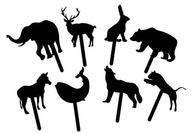 Animal Shadow Puppet Set - vector #374765 gratis
