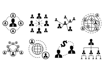Free Business Network Icon Vector - Free vector #374785