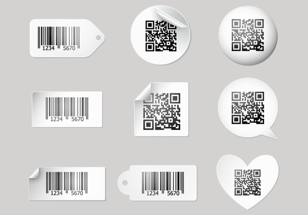 Free Barcode Scanner Label Vectors - бесплатный vector #374795