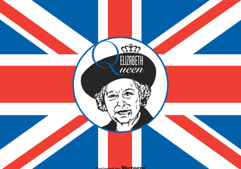 Free Queen Elizabeth Vector Illustration - vector gratuit #374825