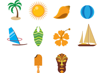 Hawaii Vector Icons - Free vector #374835