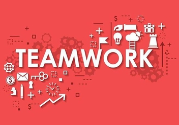 Business Teamwork Banner Background - Free vector #374885