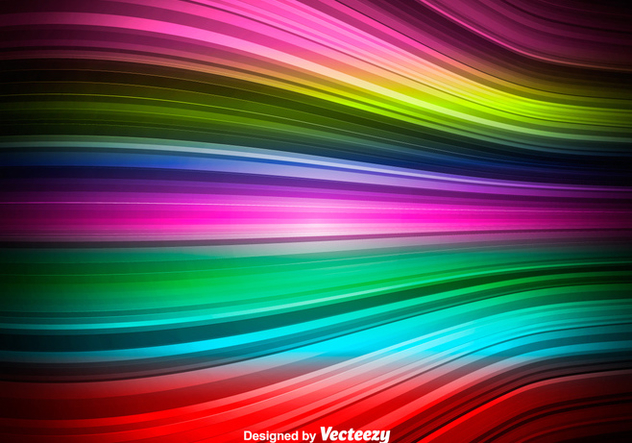 Colorful Vector Wave - Abstract Rainbow Wave - бесплатный vector #374985