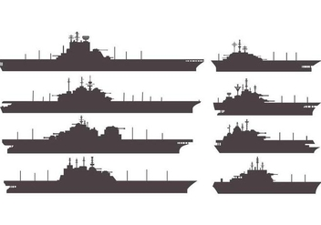 Free Silhouettes Aircraft Carrier Vector - бесплатный vector #375075