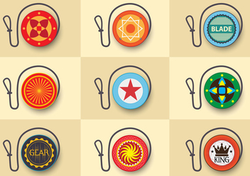 Yoyo flat custom design icon - vector gratuit #375095