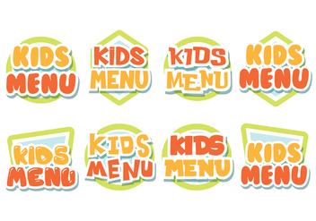 Free Kids Menu Labels - Free vector #375155