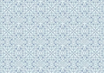 Geometric Floral Motif Pattern - Free vector #375215