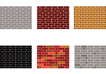 Bricklayer Stonewall Vectors - Free vector #375235