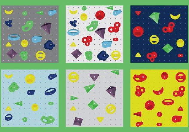 Free Wall Climbing Vector Patterns - vector gratuit #375275