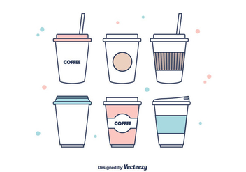 Coffee Sleeve Vector - vector #375375 gratis