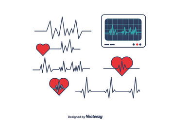 Heart Monitor Vector - Free vector #375435