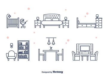 Furniture Vector - vector #375575 gratis