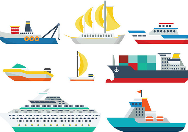 Free Ship Icons Vector - Free vector #375585