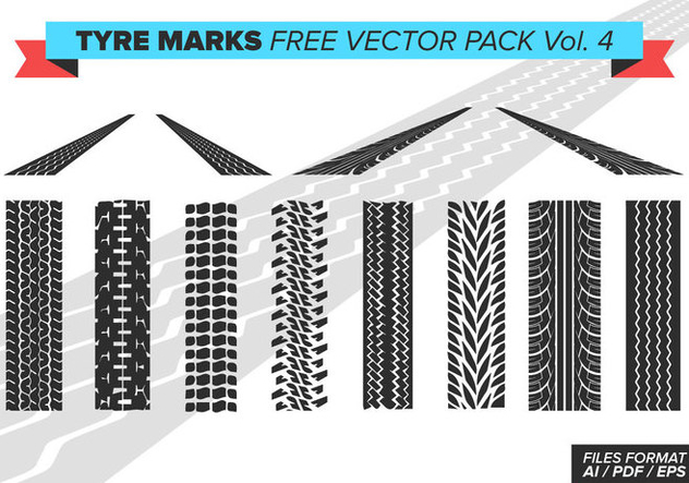 Tire Marks Free Vector Pack Vol. 4 - vector gratuit #375615