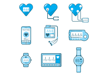 Free Heart Monitor Vector - Free vector #375625