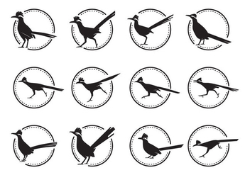 Free Roadrunner Bird Silhoutte Vector Pack - бесплатный vector #375735