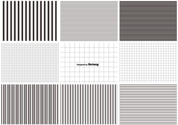 Lines and Grids Pattern Set - vector gratuit #375745