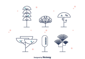 Geometrical Trees Vector - vector #375755 gratis