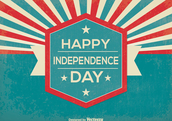 Retro Style Independence Day Illustration - vector gratuit #375915