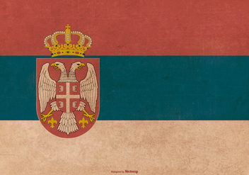 Old Grunge Serbia State Flag - Kostenloses vector #375925