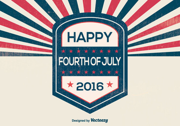 Retro Style Independence Day Illustration - vector gratuit #375985