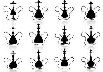 Hookah vector silhouette illustration - vector gratuit #376015