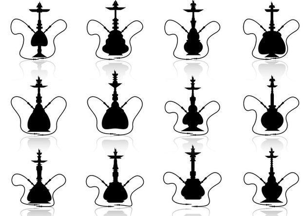 Hookah vector silhouette illustration - Free vector #376015