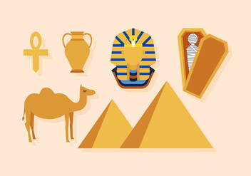 Vector Egypt Icons - vector gratuit #376035