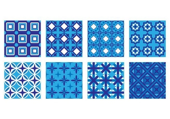 Free Portuguese Tile Pattern Vector - Free vector #376105