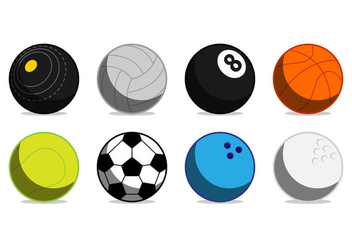 Free Sports Ball Icon Vector - Kostenloses vector #376115