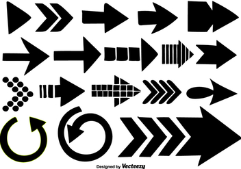 Hand Drawn Arrows Collection - Vector Elements - Free vector #376155
