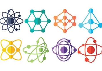 Free Atomium Icons Vector - Free vector #376185