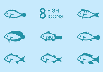 Fish Icons - vector gratuit #376255