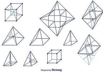 Geometrical Shapes Vector - Kostenloses vector #376375