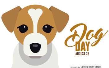 Dog Day illustration banner - Free vector #376535