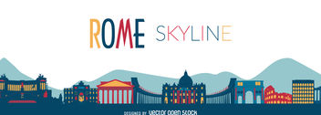 Rome sykline illustration - бесплатный vector #376555