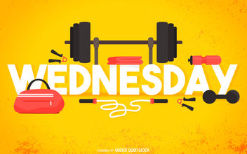 Wednesday gym poster - Free vector #376595