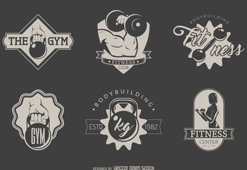 Gym logo set - vector #376655 gratis