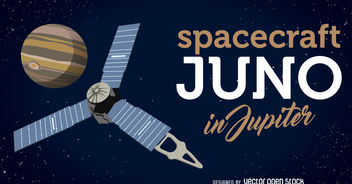 Spacecraft Juno arrives to Jupiter illustration - бесплатный vector #376785