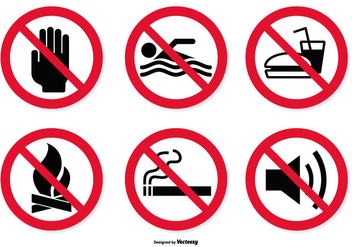 Prohibited Icon Set - vector gratuit #376825