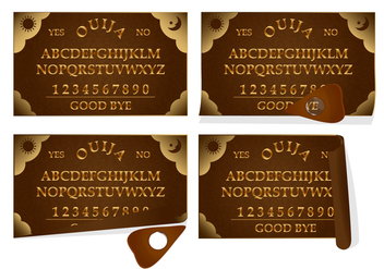 Ouija Leather Board - vector gratuit #376835