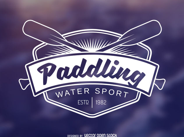 Paddling sport label - vector gratuit #376885