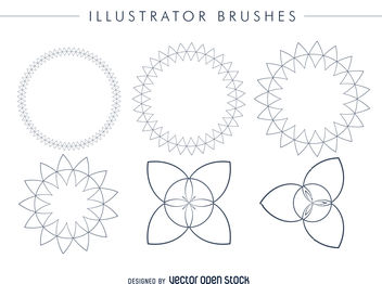 Illustrator brushes frame set - vector gratuit #376895