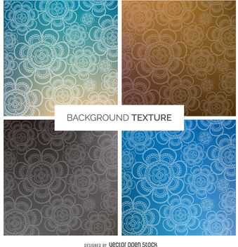 Gradient floral background set - бесплатный vector #376935