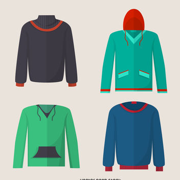 Hoodie sweater design set - vector gratuit #376945