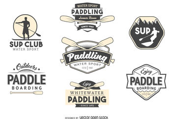Paddling logo collection - Kostenloses vector #376955