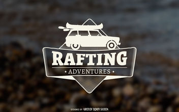 Rafting adventures label - Free vector #376965